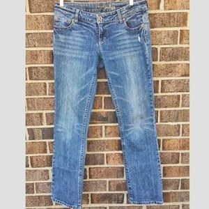 Women's American Eagle Denim Jeans Straight 77